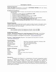 Sample Software Testing Resume Software Tester Resume Luxury 60 Unique Sample Format For And 28