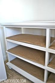 dresser with open shelves. Turn An Old Dresser Into Open Shelving Cover Shelves With Burlap Maybe In Pinterest