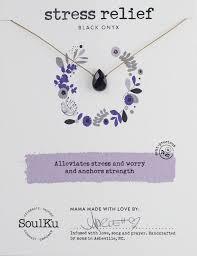 <b>Black</b> Onyx (Agate) Gemstone Soul-<b>Full</b> of LIGHT <b>Necklace</b> for ...