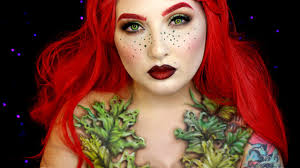 wilted poison ivy makeup tutorial jordan hanz