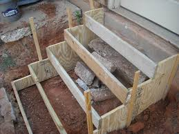Making Cement Forms Two Step Concrete Forms Steps Pinterest Concrete And