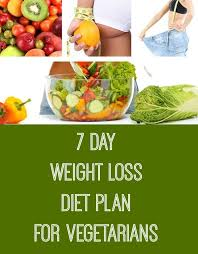 Vegetarian Diet Chart For Weight Loss In 7 Days Pin On Nutrition