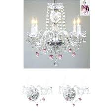 3 piece crystal chandelier and wall sconce set decorative black wrought iron candle house of