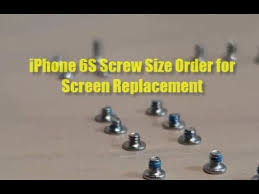 Iphone 6 Plus Screw Chart Pdf Screw Size Diagram For Iphone 6s Screen Replacement When You Mixed Up