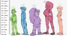 Human Au Size Chart Lapidot Is Cute Pinterest Steven