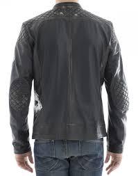 sword black leather jacket
