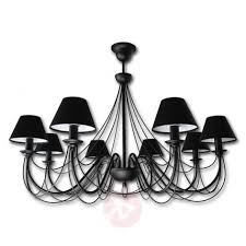 imposing chandelier bona with fabric lampshades 6089094 31