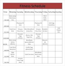 Weekly Workout Calendar Template Chanceinc Co