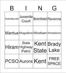 Police Department Bingo Card