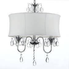 white drum light white drum shade crystal ceiling chandelier pendant light fixture lighting lamp white white