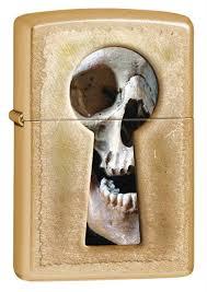 <b>Зажигалка Zippo Keyhole</b> Skull Gold Dust купить, цены в Москве ...