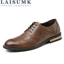 1090 Height Increasing <b>LAISUMK Men Genuine Leather</b> Shoes ...