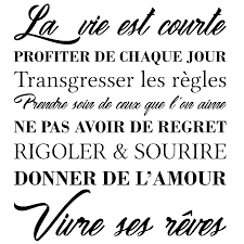 Sticker Citation La Vie Cest Vivre Ses Rêves Stickers Stickers