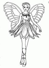 Barbie Fairy Coloring Pages For Kids And For Adults Coloring Home