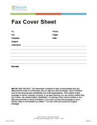29 Free Printable Fax Cover Sheet Templates Hloom