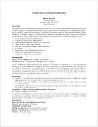 Production Coordinator Resume Resume Job Resume Best Resume