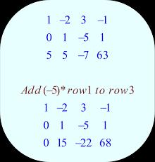 gauss jordan elimination method 03 row operation add 5