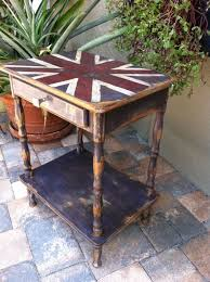 painted furniture union jack autumn vignette. Union Jack End Table By UpcyclingAmerica On Etsy. Refurbished FurnitureRepurposed FurniturePainted Painted Furniture Autumn Vignette #