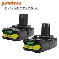 <b>18V 2500mAh Li ion P107</b> Rechargeable Battery For Ryobi Power ...
