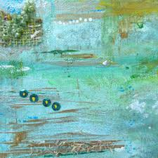 teal mint green aqua mixed media 8x10 canvas art home lake h on seafoam green canvas wall art with best mint wall paint products on wanelo