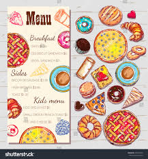 breakfast menu template food top view menu template price stock vector 497693242