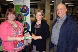 information day at cornwall collegiate and vocational school picture of people at the community living display