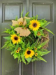 glitzhome artificial sunflower wreath