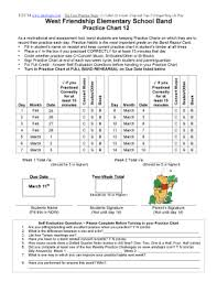 Friendship Chart For School Fillable Online West Friendship Elementary School Band