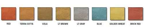 Quikrete Concrete Stain Colors Chart Translucent Concrete Stains Quikrete Cement And Concrete