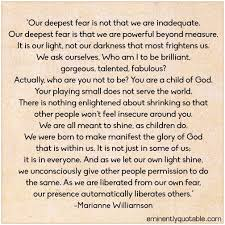Marianne Williamson Love Quotes Marianne Williamson Quotes Our Deepest Fear Pretty Images A Return 61