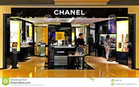 chanel outlet. editorial stock photo. download chanel cosmetics outlet u