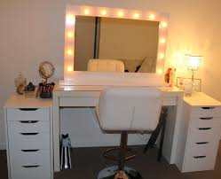 mirrored vanity furniture. Hollywood Vanity Table With Lights Ikea Pictures Bedroom Sets Lighted Mirror Custom Makeup Vanities Double Sink For ~ Interalle.com Mirrored Furniture U