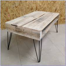 Retro Reclaimed Pallet Coffee Table With Steel Hairpin Legs  EBayPallet Coffee Table With Hairpin Legs