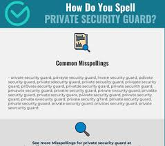 The international phonetic alphabet (ipa) is an academic standard that was created by the international phonetic association. Correct Spelling For Private Security Guard Infographic Spellchecker Net