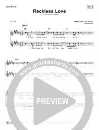 Reckless Love Simplified Lead Sheet Bethel Music Cory