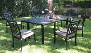 cast aluminum patio chairs. CBM Outdoor Cast Aluminum Patio Furniture With 7 Piece Dining Set Chairs