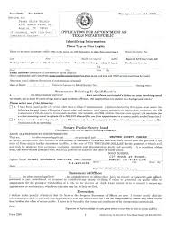 Official Notary Application Form Texas Notary Application Form ...