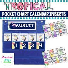 Pocket Chart Calendar Inserts Pocket Calendar Inserts Worksheets Teaching Resources Tpt