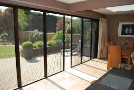 Contemporary Folding Patio Doors With Screens Large Door Fly Letting Fresh Throughout Decorating