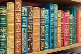 leather bound classic books in demand at caveat emptor
