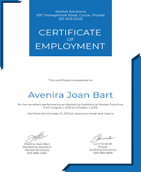 Example Of A Certificate Of Employment 40 Employment Certificates Pdf Doc Free Premium Templates