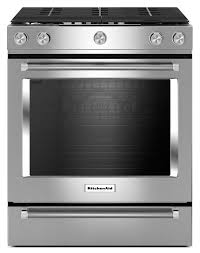 gas range. Cooking Products - KitchenAid 5.8 Cu. Ft. Slide-In Convection Gas Range \u2013