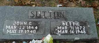 SUTTON, JOHN CALVIN - Hempstead County, Arkansas | JOHN CALVIN SUTTON -  Arkansas Gravestone Photos