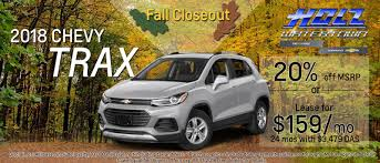 2018 chevy trax finance special rebates watertown wi