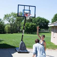 furniture stunning portable basketball hoop for backyard spalding 50 inch acrylic with glass backboard and black base