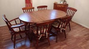 drop leaf dining table and 6 chairs. ducal pine drop leaf dining table \u0026 6 chairs and gumtree