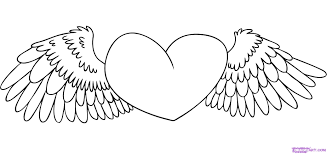 It comes from the heart, we promise you that. Heart With Wings Coloring Page Coloring Home