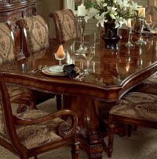 grandeur 7 piece double pedestal dining table set in cherry ash burl finish by furniture hf 733 75 206