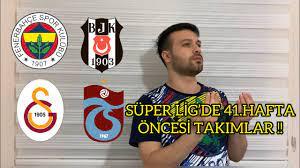 SÜPER LİG 'DE 41.HAFTA ÖNCESİ TAKIMLAR - YouTube