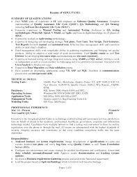 software tester resume sample general manager assistant sample ...